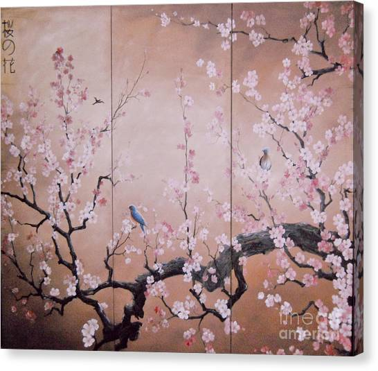 Sakura - Cherry Trees In Bloom Canvas Print
