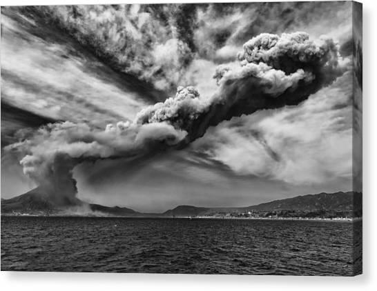 Sakurajima Volcano Canvas Print