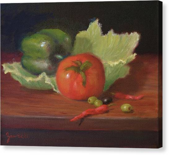 Salad By Alan Zawacki Canvas Print