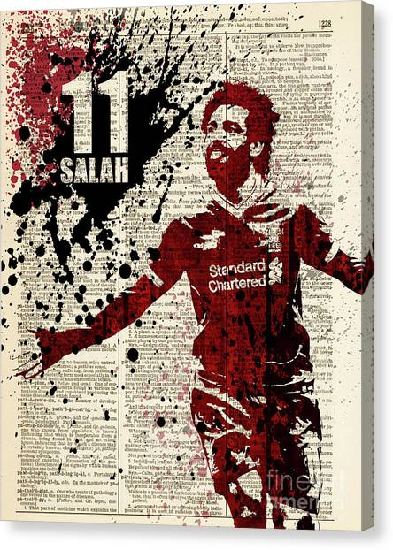 Andres Iniesta Canvas Print - Salah On Dictionary Page by Art Popop