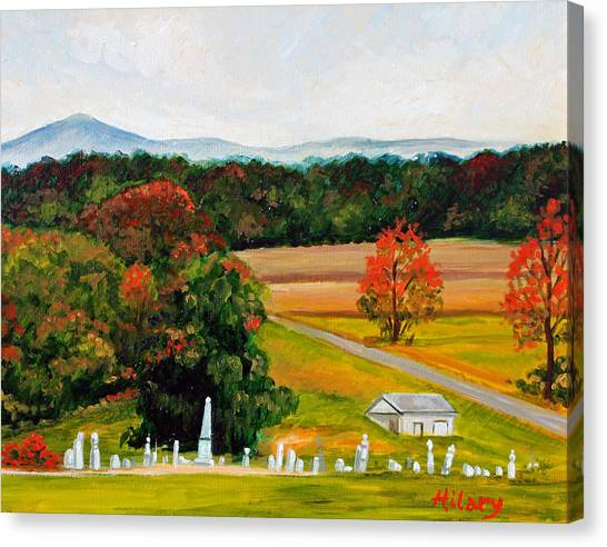 Salem Cemetery In October Canvas Print by Hilary England