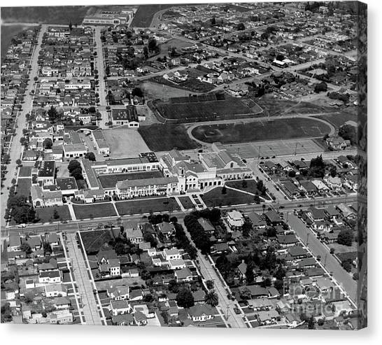 Salinas High School 726 S. Main Street, Salinas Circa 1950 Canvas Print