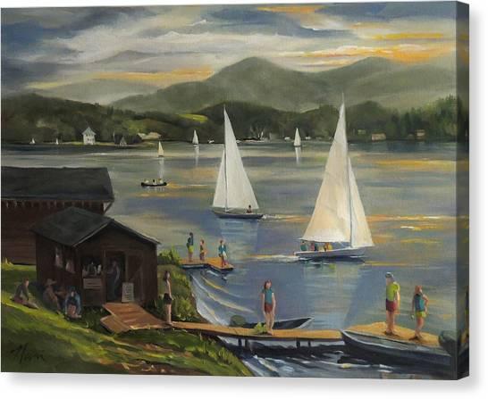 Sailing At Lake Morey Vermont Canvas Print