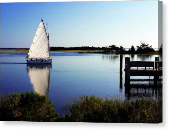 Saling On Glass Canvas Print by Alan Hausenflock