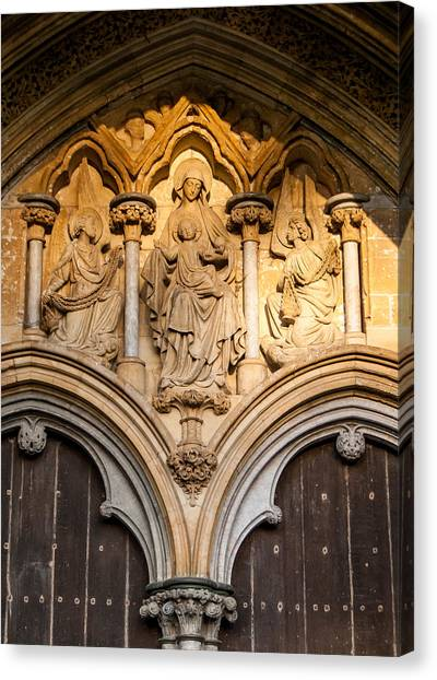 Salisbury Cathedral Doors Canvas Print