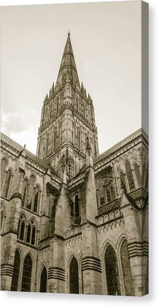 English Gothic Architecture Canvas Print