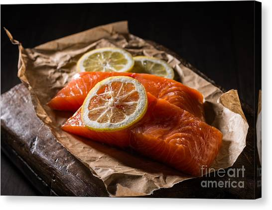 Fillet Canvas Print - Salmon Fillets by Amanda Elwell
