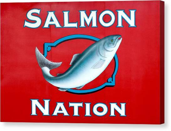 Salmon Nation Canvas Print