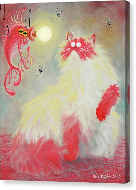 Himalayan Cats Canvas Print - Salmon Pastel by Baron Dixon
