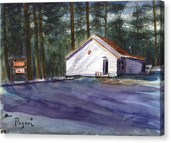 Canvas Print featuring the painting Salmon River Grange by Chriss Pagani