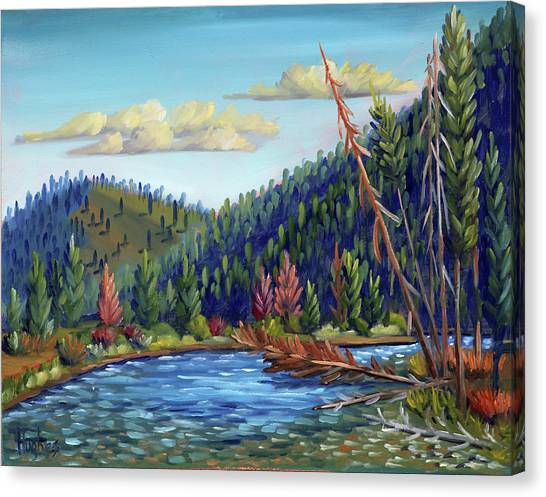Salmon River - Stanley Canvas Print