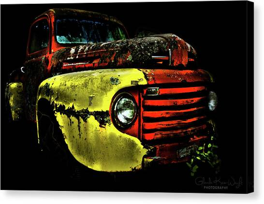 Canvas Print featuring the photograph Salsa Chevy by Glenda Wright
