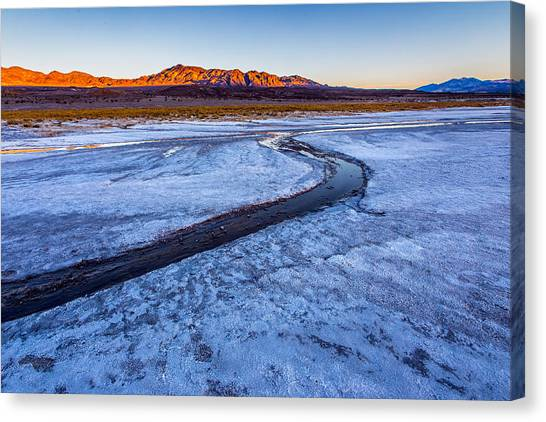 Mojave Desert Canvas Print - Salt Creek Death Valley by Peter Tellone