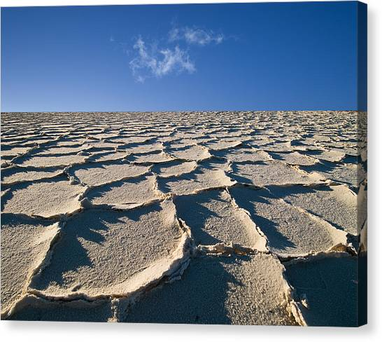 Death Valley Canvas Print - Salt Flats Death Valley National Park by Steve Gadomski