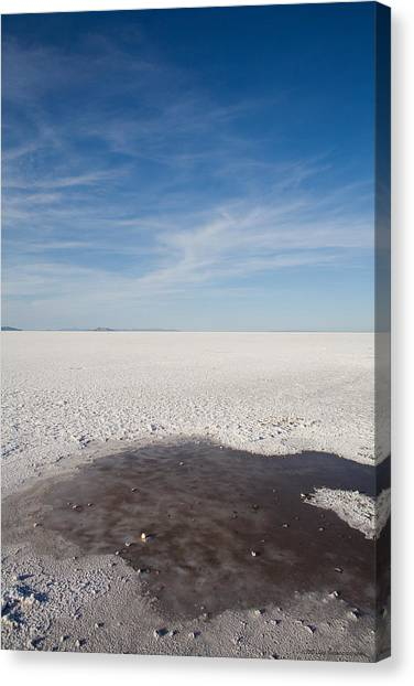 Salt Flats Canvas Print by Luigi Barbano BARBANO LLC