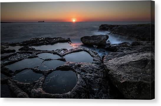Salt Flats - Marsaskala, Malta - Seascape Photography Canvas Print by Giuseppe Milo