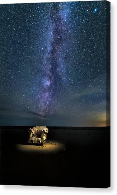 Salt Flats Milky Way Chair Canvas Print