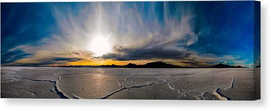 Salt Flats Sunset Canvas Print