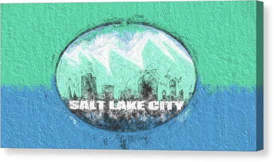 Salt Lake City Flag Canvas Print by JC Findley