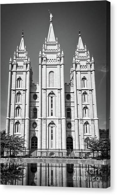 Salt Lake Temple Canvas Print - Salt Lake Temple by Delphimages Photo Creations