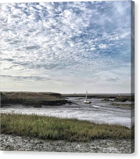 Beach Canvas Print - Salt Marsh And Creek, Brancaster by John Edwards