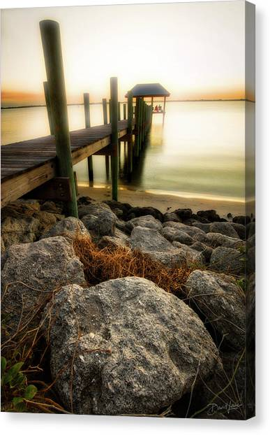 Canvas Print featuring the photograph Salt Mist On River by David A Lane