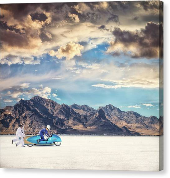 Salt Canvas Print - Salt Push by Keith Berr