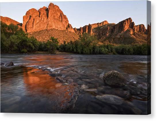 Desert Sunsets Canvas Print - Salt River Cascades 3 by Dave Dilli