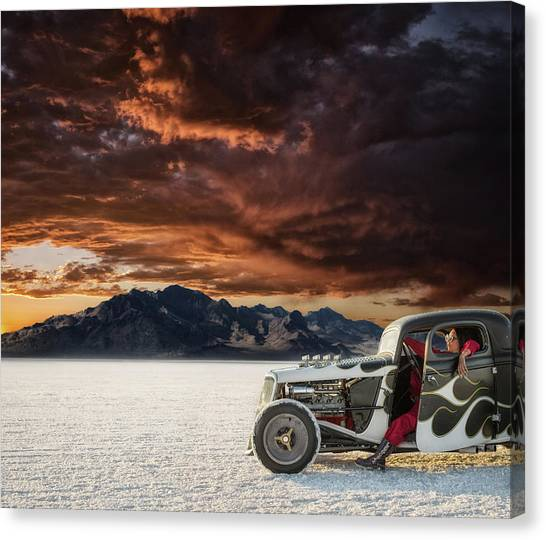Salt Canvas Print - Salt Sunset by Keith Berr