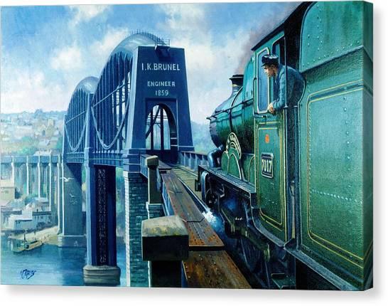 Bridges Canvas Print - Saltash Bridge. by Mike Jeffries