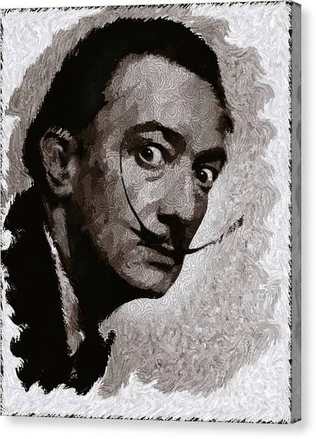 Salvador Dali Canvas Print - Salvador Dali, Artist by John Springfield