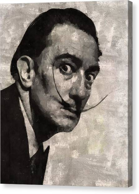 Salvador Dali Canvas Print - Salvador Dali, Artist by Mary Bassett