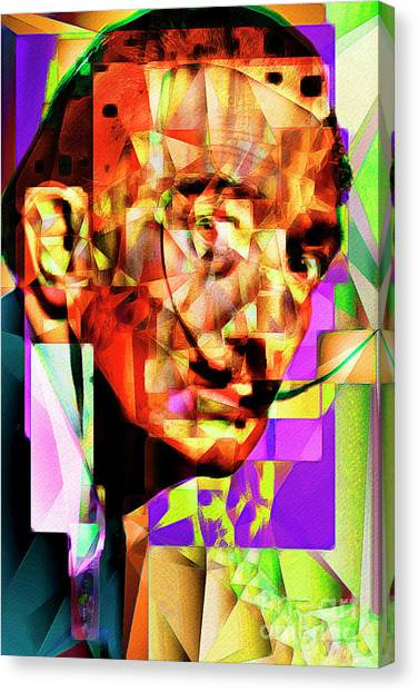 Dada Art Canvas Print - Salvador Dali In Abstract Cubism 20170401 by Wingsdomain Art and Photography