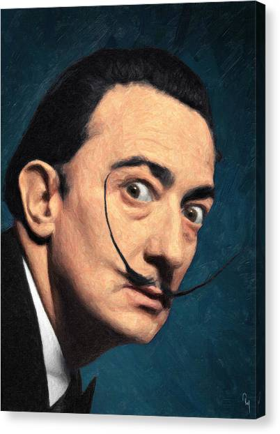 Dada Art Canvas Print - Salvador Dali by Zapista