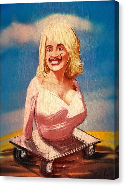 Salvador Dali Canvas Print - Salvador Dolly Dolly by Russell Pierce
