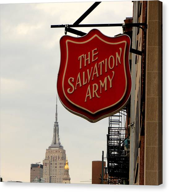 Salvation Army Canvas Print - Salvation Army New York by Andrew Fare