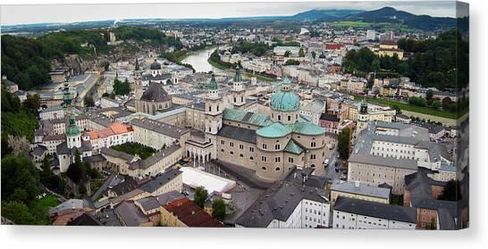 Mozart Canvas Print - Salzburg Panoramic by Adam Romanowicz