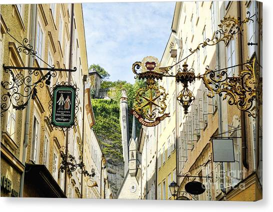 Salzburg Shopping Canvas Print
