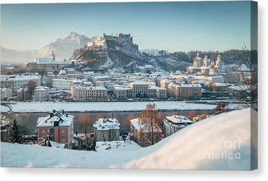 Salzburg Winter Morning Canvas Print