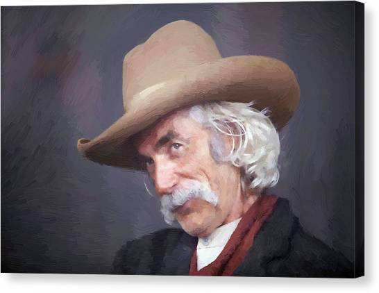 e61fc5b0a2d27 Lonesome Dove Canvas Print - Sam Elliot Cowboy by Peter Nowell