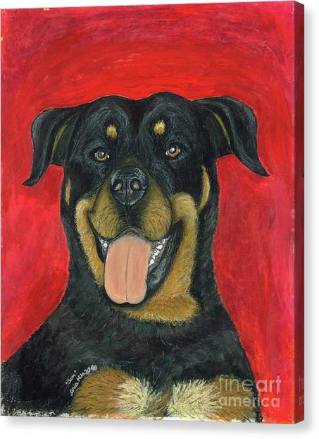 Sam The Rottewieler Canvas Print