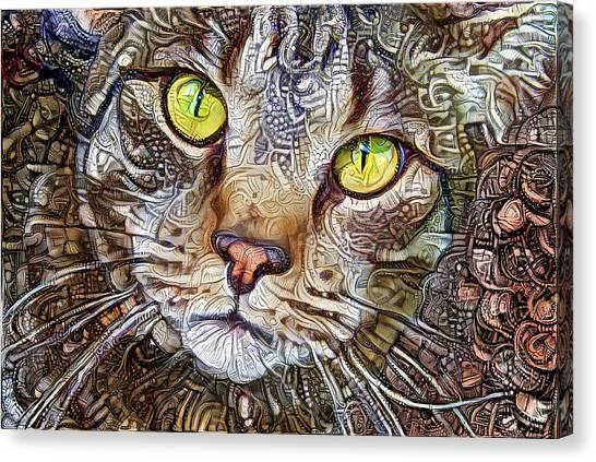 Sam The Tabby Cat Canvas Print