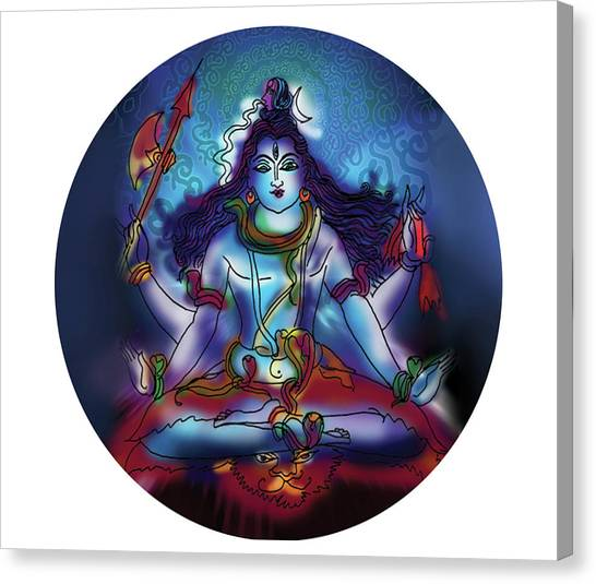 Samadhi Shiva Canvas Print