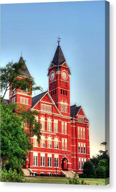 Auburn University Canvas Print - Samford Hall by JC Findley
