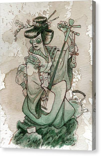 Japan Canvas Print - Samisen by Brian Kesinger