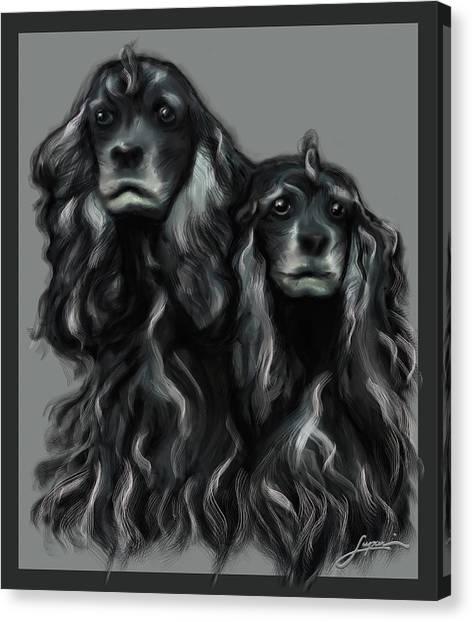 Canvas Print featuring the digital art Sammy And Cloe by Thomas Lupari