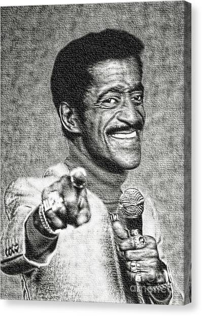 Sammy Davis Jr - Entertainer Canvas Print