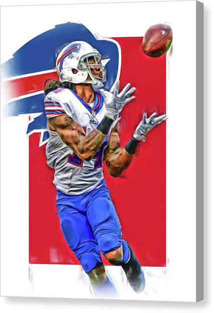 Buffalo Bills Canvas Print - Sammy Watkins Buffalo Bills Oil Art by Joe Hamilton