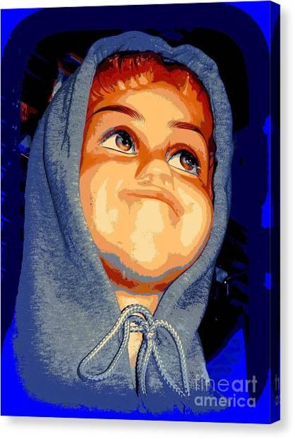 Hoodie Canvas Print - Sammy's Smirk by Ed Weidman