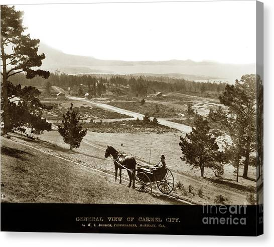 Samuel J. Duckworth Pauses To Look Upon What Would Become Carmel 1890 Canvas Print